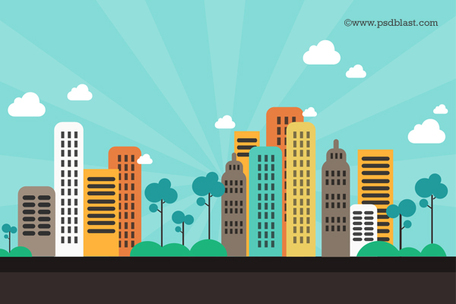 Superman city background clipart banner royalty free download Cityscape cliparts banner royalty free download