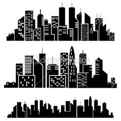 Superman city background clipart banner transparent download Gotham City Skyline Outline Vector cities silhouette | Library ... banner transparent download