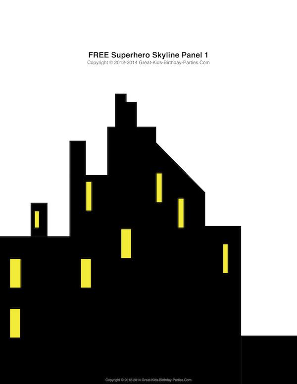Superman city background clipart vector transparent download Free Superhero Printables - #Superhero building skyline, 4 ... vector transparent download
