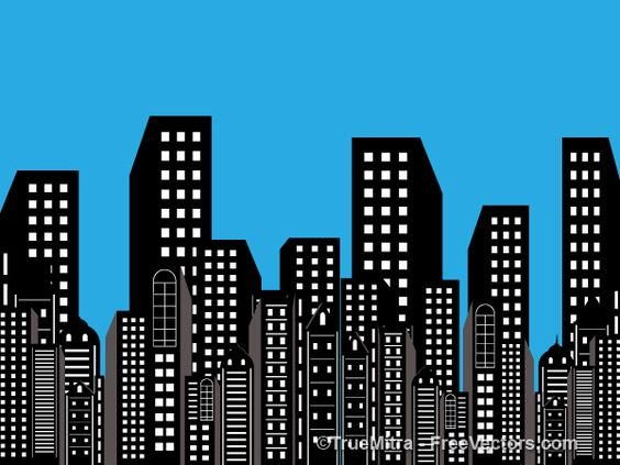 Superman city background clipart royalty free library Buildings Background | Free Vectors | Pinterest | Backgrounds ... royalty free library
