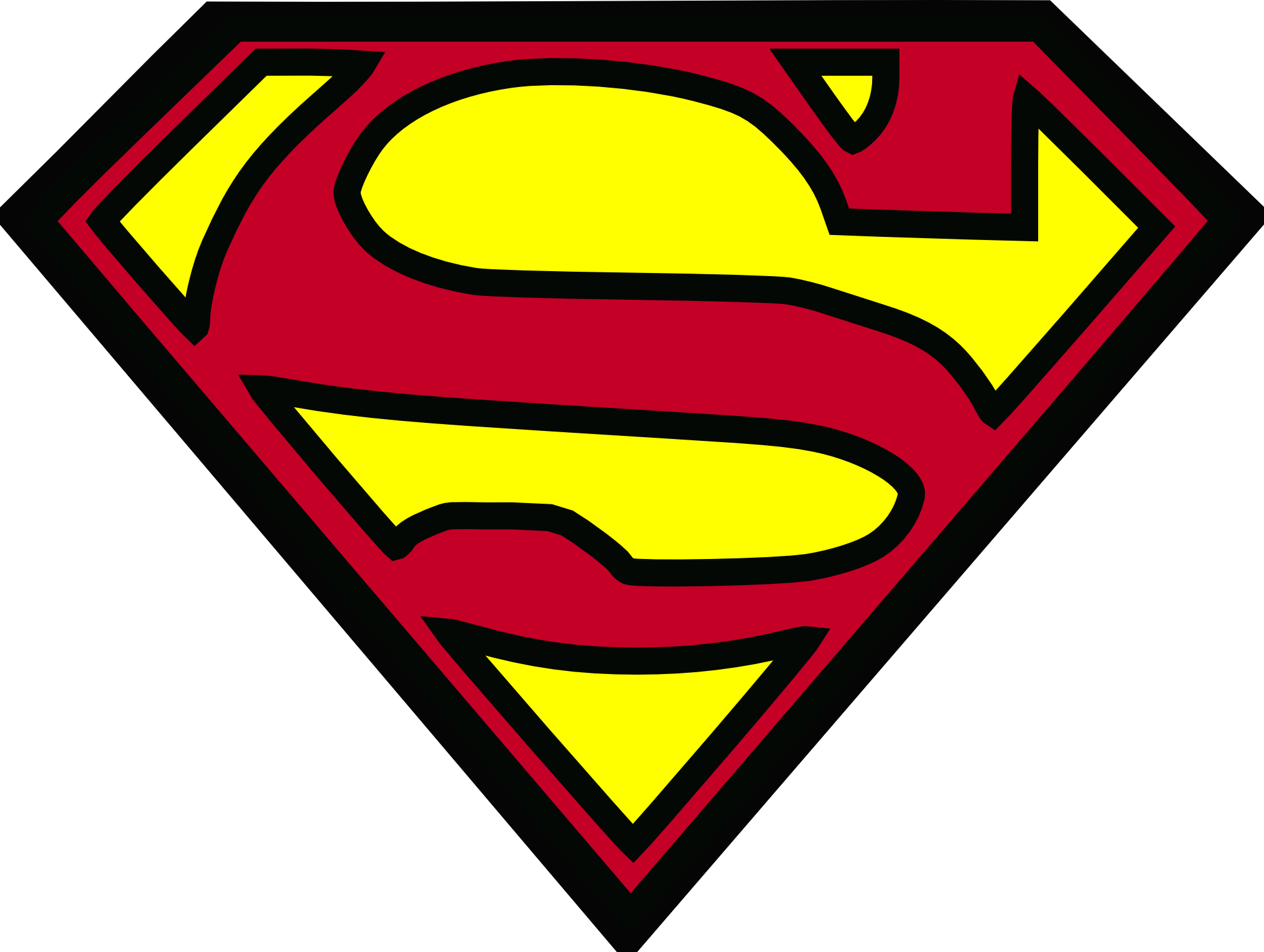 Superman clipart free png stock Superman Logo Clipart - Clipart Kid png stock