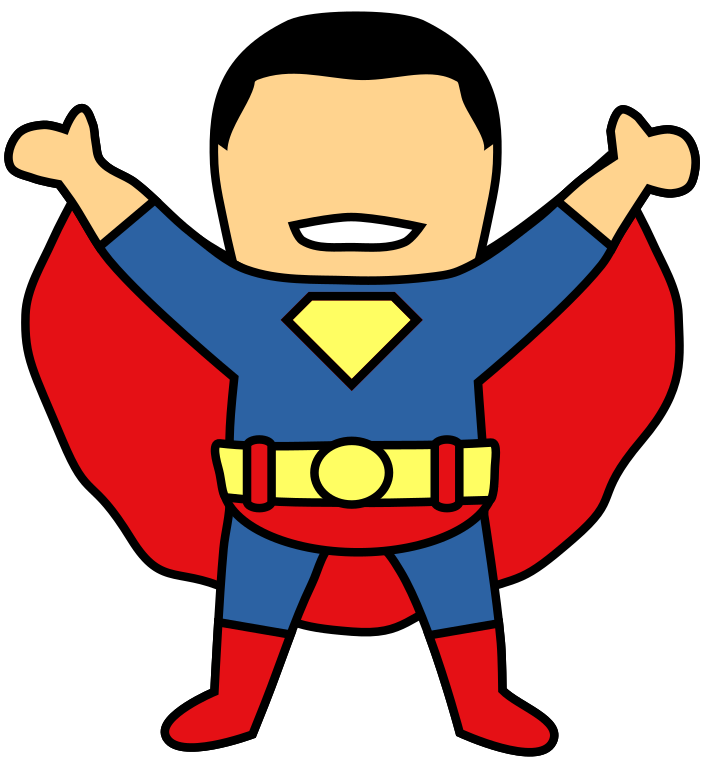 Superman clipart hd graphic black and white library File:Superman Clipart.svg - Wikimedia Commons graphic black and white library