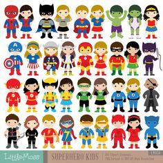 Superman kid clipart girl vector free download 18 Boys Superhero Costumes Clipart, Superheroes Clipart, Superhero ... vector free download