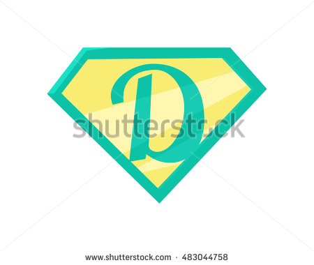 Superman logo clipart seperated