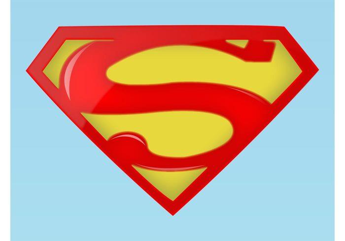 Superman logo clipart seperated clip art free Superman Logo - Download Free Vector Art, Stock Graphics & Images clip art free
