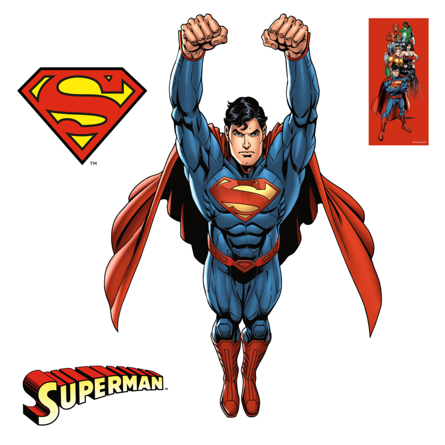 Superman new 52 clipart clip art black and white download Superman: Flight - The New 52 - X-Large Officially Licensed DC Removable  Wall Decal clip art black and white download