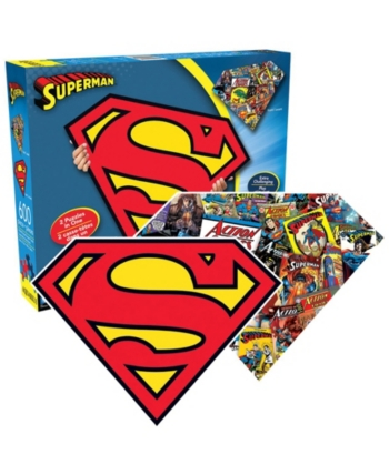 Superman puzzle piece clipart picture library library Dc Comics - Superman Logo and Collage Double-Sided Shaped ... picture library library