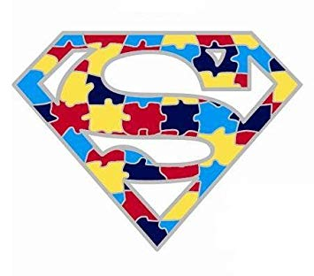 Superman puzzle piece clipart svg transparent stock Autism Superman Awareness Lapel Pin svg transparent stock