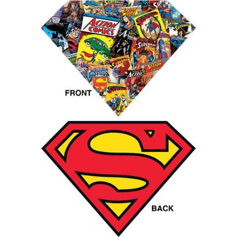 Superman puzzle piece clipart clipart royalty free library Superman Logo with Collage Jigsaw Puzzle - Herrschners ... clipart royalty free library