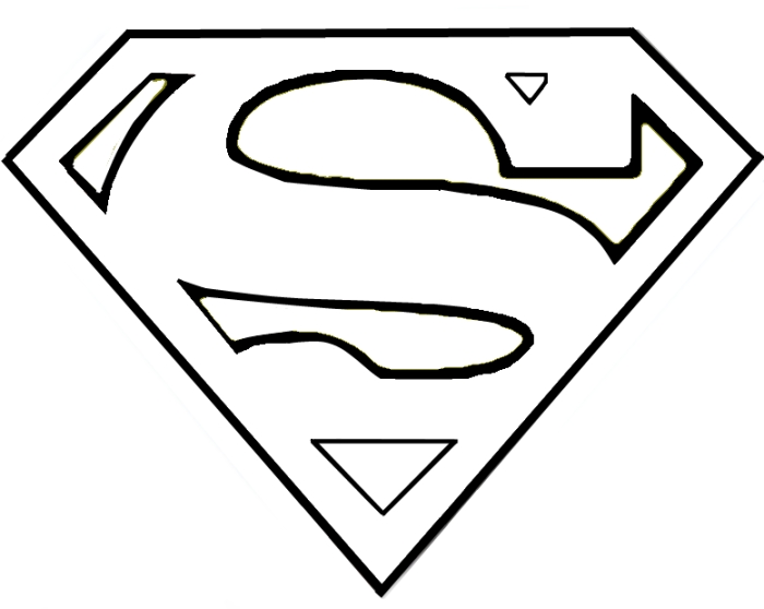 Superman symbol clipart jpg library stock Superman Symbol Outline - ClipArt Best jpg library stock
