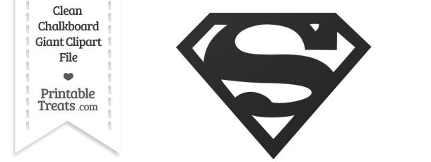 Superman symbol clipart banner stock Clean Chalkboard Giant Superman Symbol Clipart — Printable Treats.com banner stock