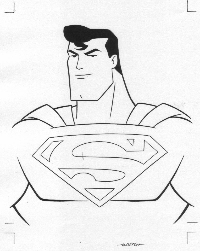 Superman without head clipart clip black and white Superman Face Coloring coloring page, coloring image, clipart images. clip black and white