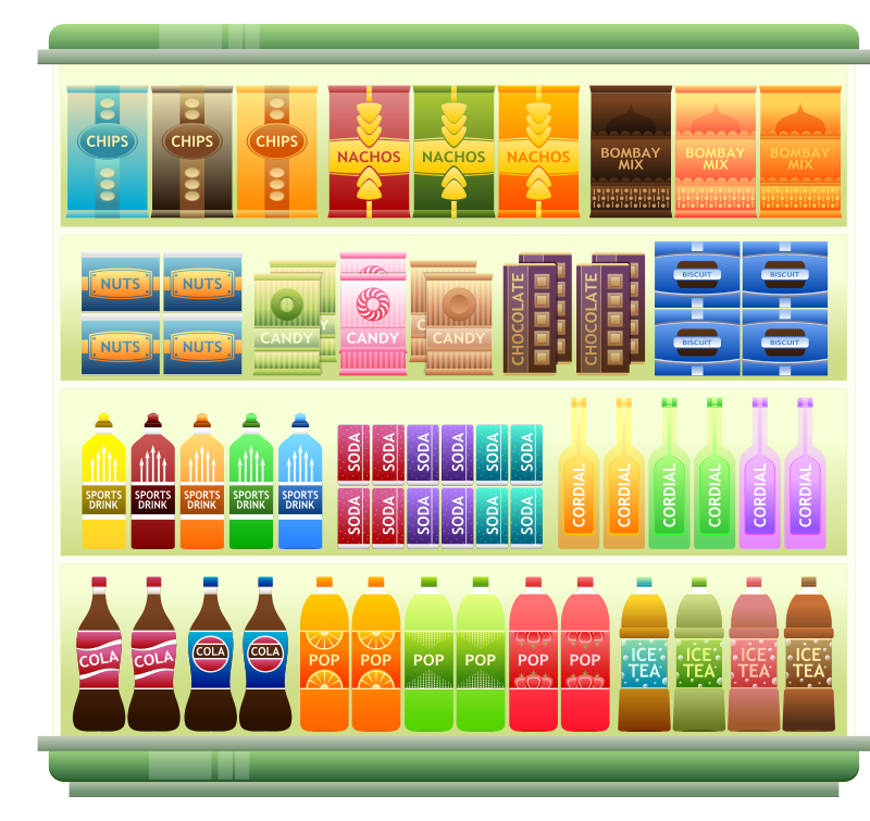 Supermarket clipart free clipart royalty free stock Free Clipart: Supermarket Goods Shelf 3 | Viscious-Speed clipart royalty free stock