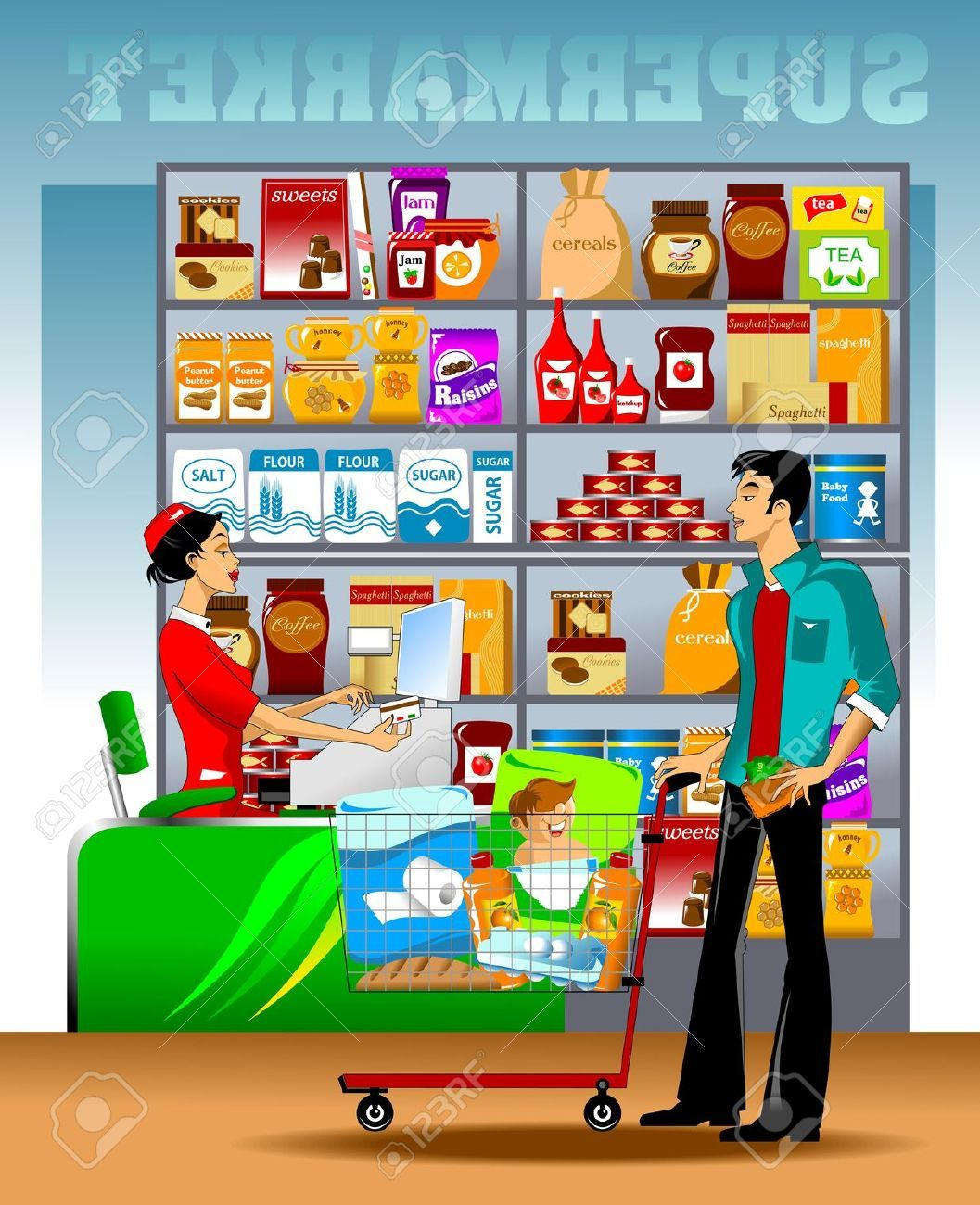 Supermarket clipart free png royalty free the checkout (supermarket, | 2 - cutouts - accessories ... png royalty free