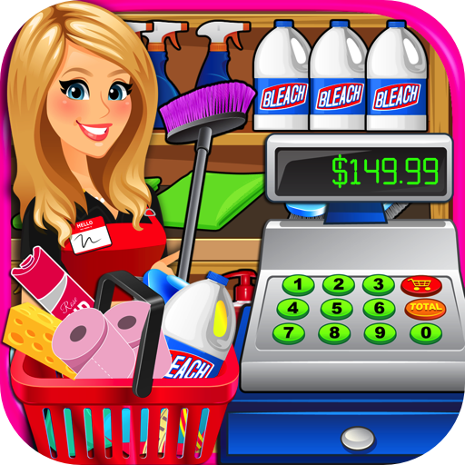 Superstore clipart jpg black and white stock Supermarket Superstore Cash Register Simulator - Grocery Store Cashier Kids  Fun Games FREE jpg black and white stock
