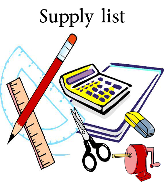Supply list clipart royalty free library School Supplies List | Clipart Panda - Free Clipart Images royalty free library