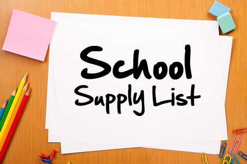 Supply list clipart clipart free Homework supplies list clipart free