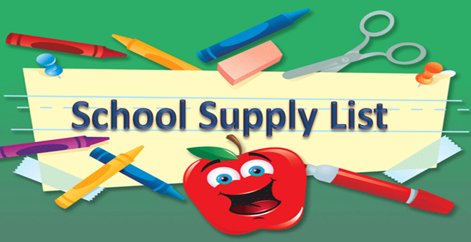 Supply list clipart png transparent library School Supplies List | Clipart Panda - Free Clipart Images png transparent library
