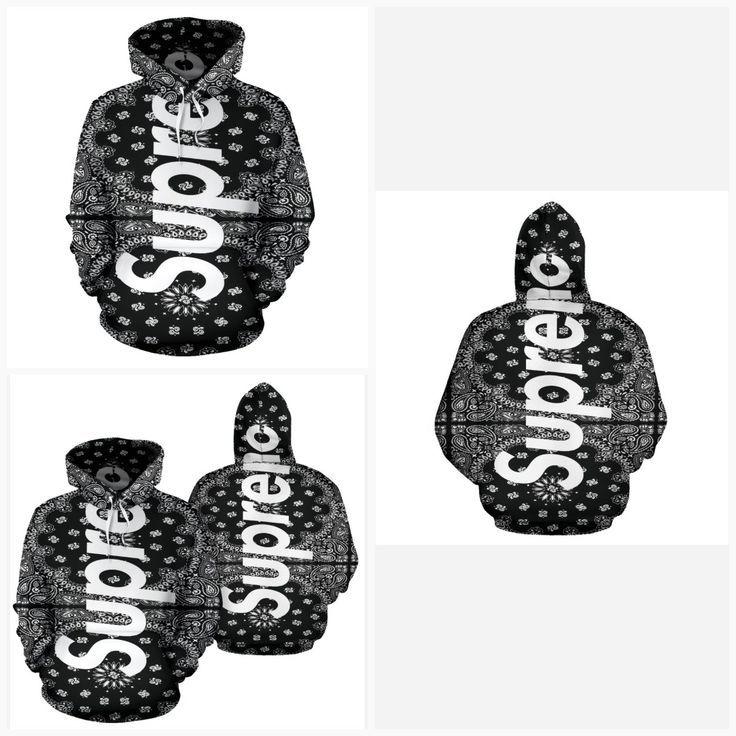 Supreme bandana clipart picture free download Bandana Fever Supreme Bandana Print Black Pullover Hoodie ... picture free download