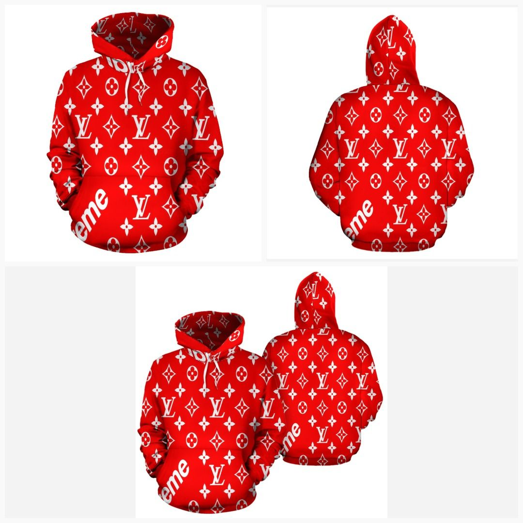 Supreme bandana clipart royalty free library Bandana Fever Supreme LV Print Pullover Hoodie in 2019 ... royalty free library