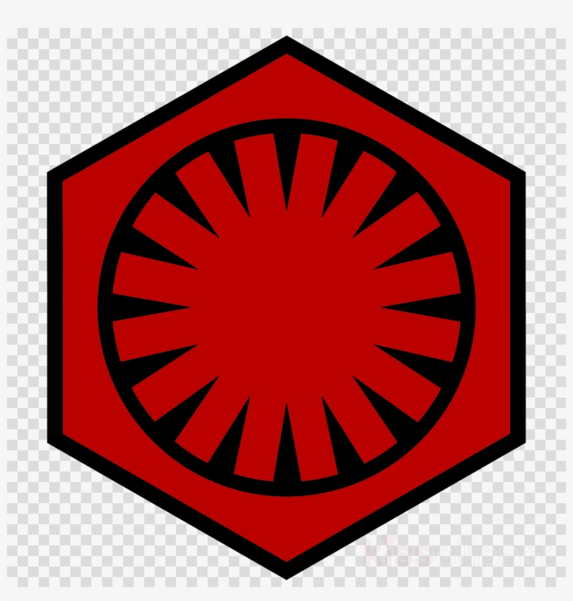 Supreme leader clipart vector black and white library Star Wars First Order Symbol Clipart Supreme Leader - First ... vector black and white library