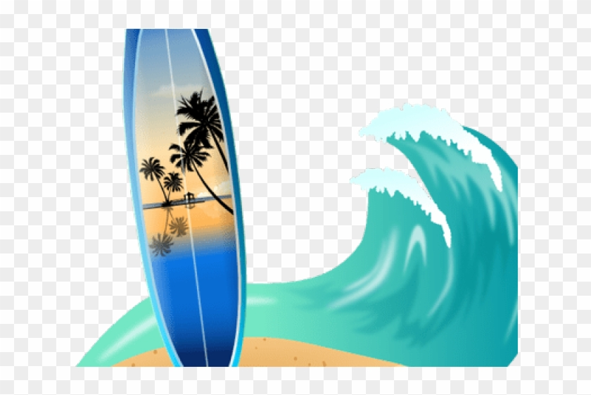 Surboard clipart svg library download Surfboard Clipart Simple - Surfboard With Wave Clipart, HD ... svg library download