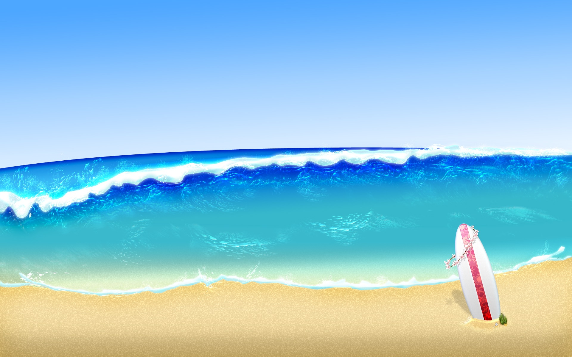 Surf background clipart png library library Surf Wallpaper Abstract 3D Wallpapers in jpg format for free ... png library library
