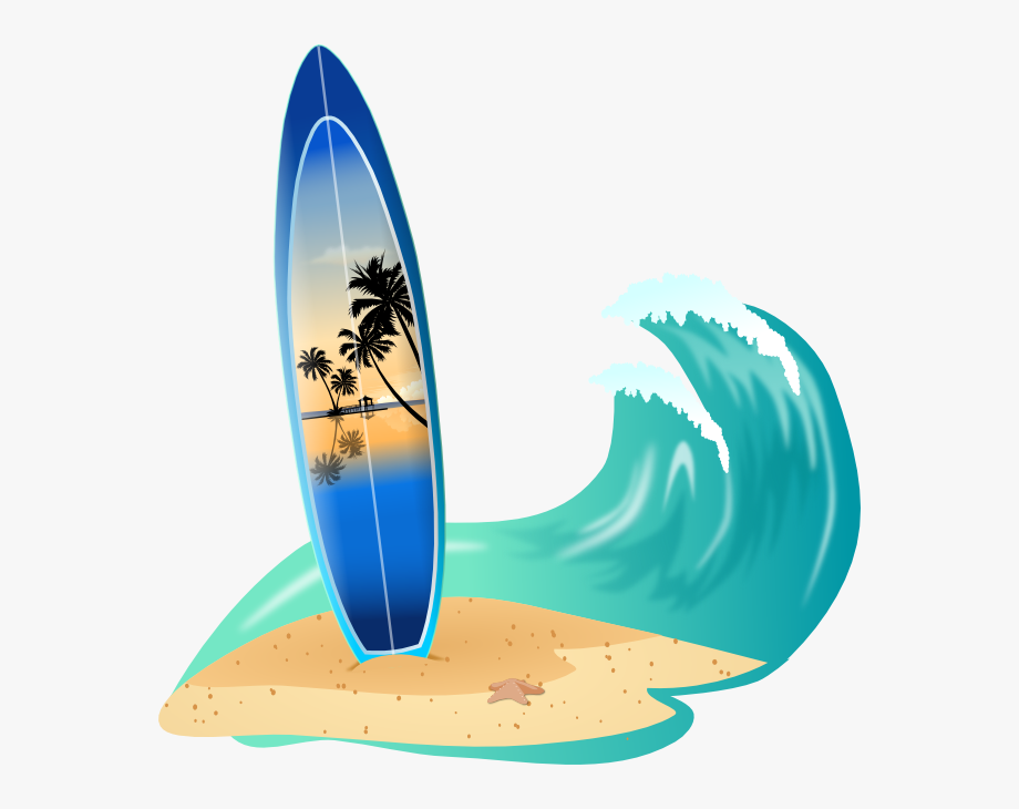 Surf background clipart png Surfboard Clip Art - Transparent Background Surf Clip Art ... png