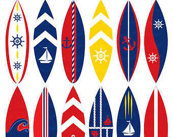 Surfboard clipart clipart library stock Surfboard clip art – Etsy clipart library stock