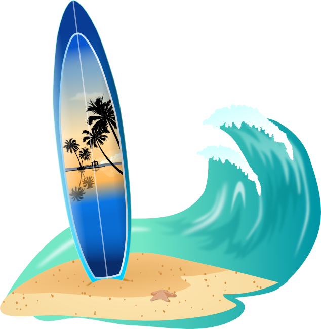 Surfboard clipart black and white Surf Board Clip Art & Surf Board Clip Art Clip Art Images ... black and white