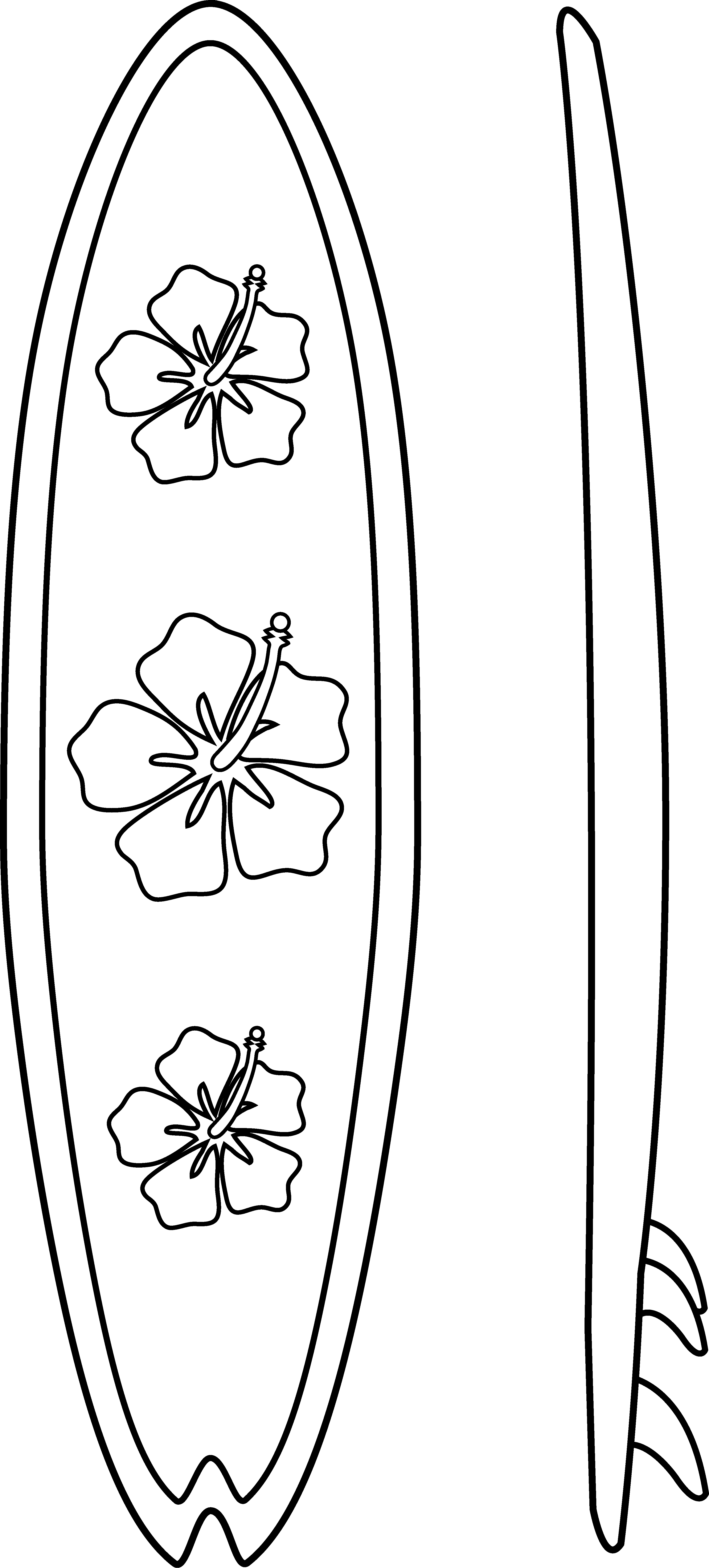 Surfboard clipart black and white banner free stock Surf board outline clipart - ClipartFest banner free stock