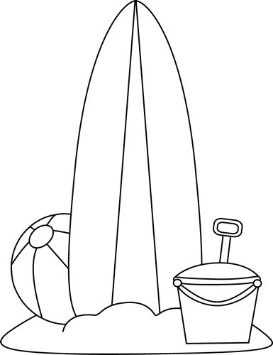 Surfboard clipart black and white image download Surfboard Black And White Clipart - Clipart Kid image download