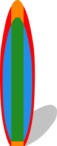 Surfboard clipart free png black and white library Surfboard clip art Free vector in Open office drawing svg ( .svg ... png black and white library