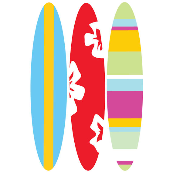 Surfboard clipart free vector library library Free Surfboard Clipart Pictures - Clipartix vector library library