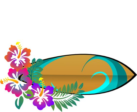 Surfboard clipart png banner royalty free surf-board-hibiscus-hi.png (600×489) | Surf Party Ideas ... banner royalty free