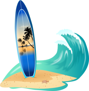 Surfboard clipart png png black and white Surfboard And Wave Clip Art at Clker.com - vector clip art online ... png black and white