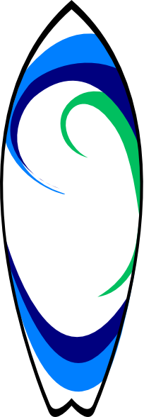 Surfboard clipart png royalty free Surfboard Clip Art at Clker.com - vector clip art online, royalty ... royalty free