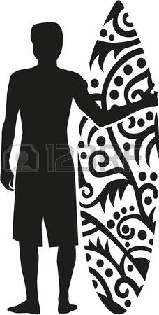Surfboard clipart silhouette graphic free library Stock Photos and Royalty Free Images from 123RF Stock Photography graphic free library