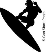 Surfboard clipart silhouette svg freeuse download Surfer Illustrations and Clipart. 27,879 Surfer royalty free ... svg freeuse download