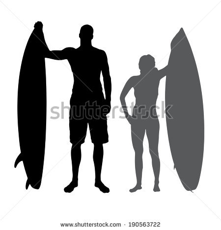 Surfboard clipart silhouette banner library download Surfboard Silhouette Stock Images, Royalty-Free Images & Vectors ... banner library download