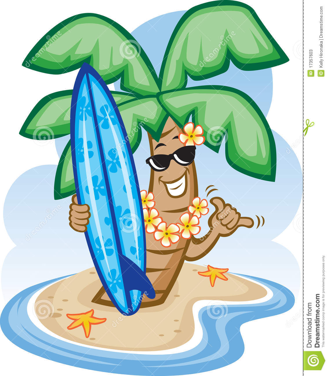 Surfboard clipart standing palm tree clip art transparent stock Palm Tree And Surfboard Stock Photos - Image: 17357603 clip art transparent stock