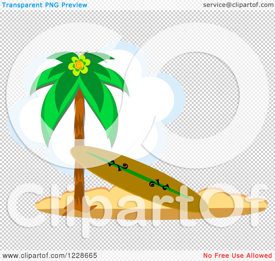 Surfboard clipart standing palm tree banner black and white download Clipart of a Surfboard Leaning Against a Beach Palm Tree| Royalty ... banner black and white download