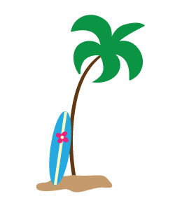 Surfboard clipart transparent background clip art transparent Palm tree table clipart - ClipartFox clip art transparent