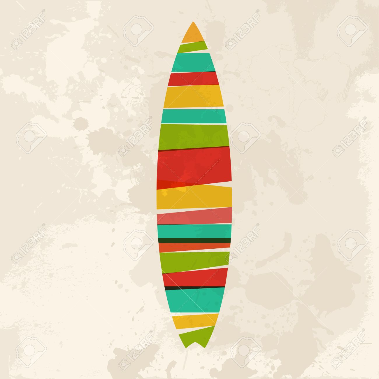 Surfboard clipart transparent background png royalty free stock Diversity Colors Transparent Bands Surfboard Over Grunge ... png royalty free stock