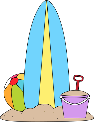 Surfboard in the sand clipart image library library Surfboard and beach toys in the sand clip art surfboard ... image library library