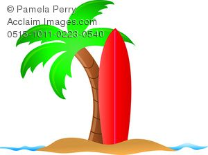 Surfboard in the sand clipart jpg black and white surfboard clip art | Clip Art Image of a Cartoon of a ... jpg black and white