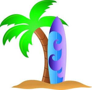 Surfboard in the sand clipart graphic royalty free download Tropical surfboard clipart surfing clipart surf pictures of ... graphic royalty free download