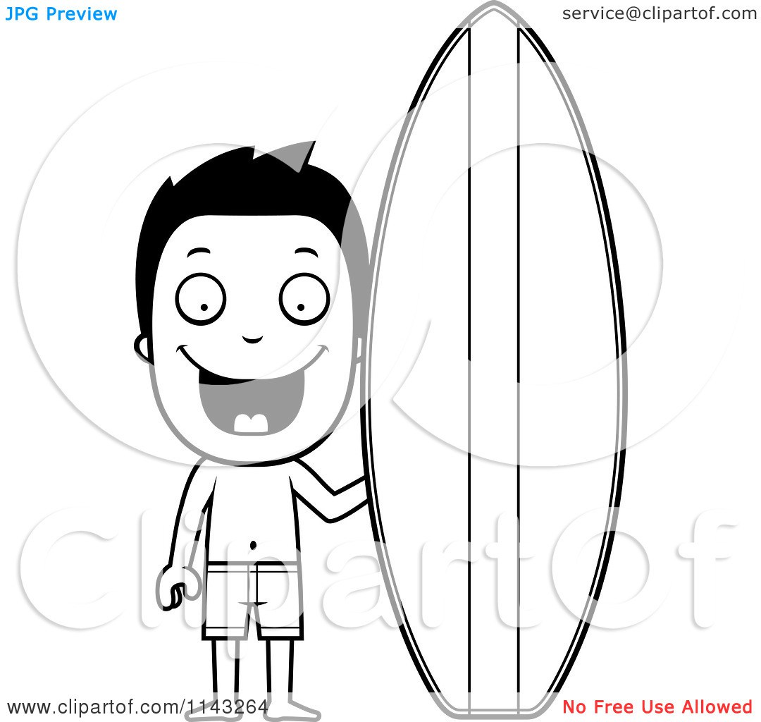Surfboard on head clipart jpg black and white Surfboard Coloring Pages. drawings for surfboard colouring pages ... jpg black and white