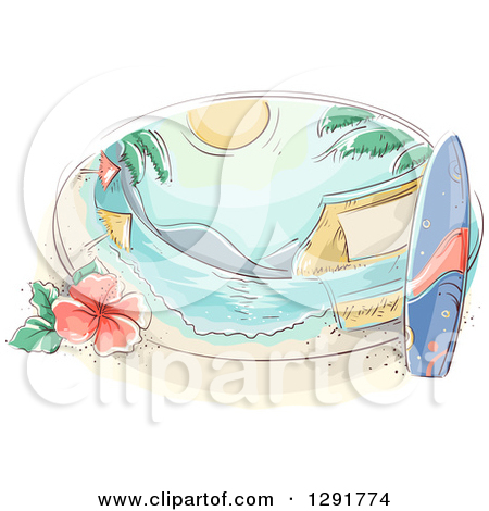 Surfboard on head clipart png library download Royalty-Free (RF) Surfboard Clipart, Illustrations, Vector Graphics #1 png library download