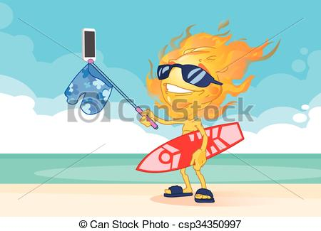 Surfboard on head clipart vector library download EPS Vectors of Sun Summer Boy Fire Head Taking Selfie Smart Phone ... vector library download